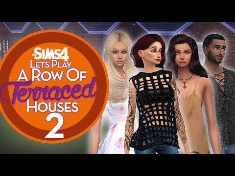 The Sims 4 - A Row of Terraced Houses – Part Two – The Spin Masters! ♡