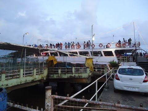 Santa Monica Cruise Top Deck View On Mandovi River At Panaji, Goa Tourism Video