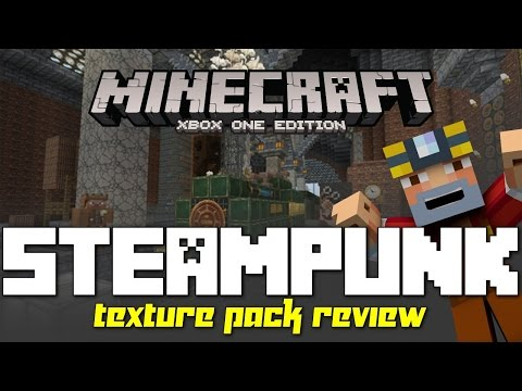 Minecraft Xbox 360/One: New STEAMPUNK Texture Pack Review!