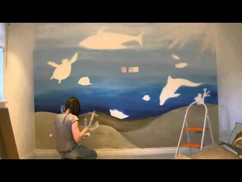 Under the Sea wall Mural ,Time Lapse
