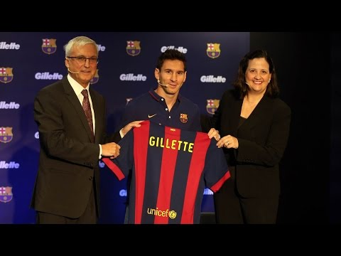LIVE - Official presentation of sponsorship agreement with Gillette, with Leo Messi as ambassador