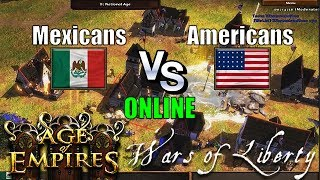México vs United States | Age of Empires 3 Wars of Liberty | ES Online multiplayer