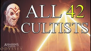 Assassin's Creed Odyssey - All 42 Cultists Locations (Spoilers at 39:00)