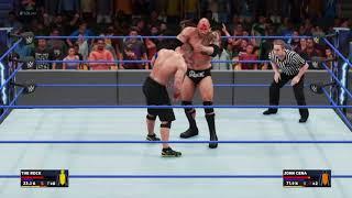 WWE 2K18 The Rock vs Johncena(local multiplayer) PS4 gameplay
