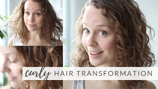 TRYING THE CURLY GIRL METHOD FOR THE 1ST TIME | washing & styling my naturally curly hair