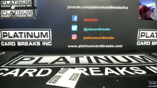 Platinum Card Breaks Live Stream