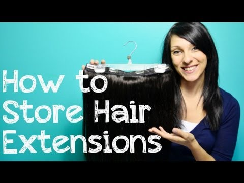 How to Store Clip In Hair Extensions | Instant Beauty ♡