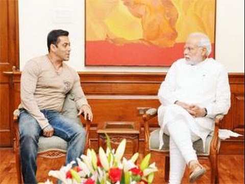 Bollywood Star Salman Khan Meets PM Narendra Modi - BT
