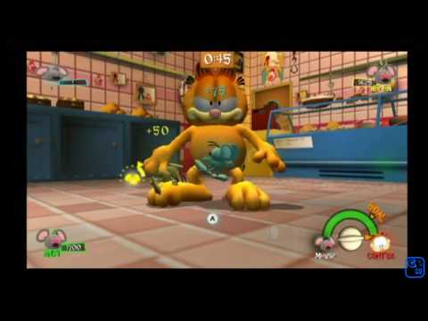 The Garfield Show Threat Of The Space Lasagna - First 9 Minutes - [Nintendo Wii]