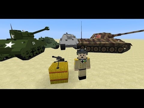 Minecraft Flans mod Manus ww2 Vehicle Pack 1.6.4
