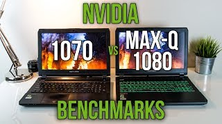 Nvidia 1070 vs 1080 Max-Q - Laptop Graphics Comparison Benchmarks