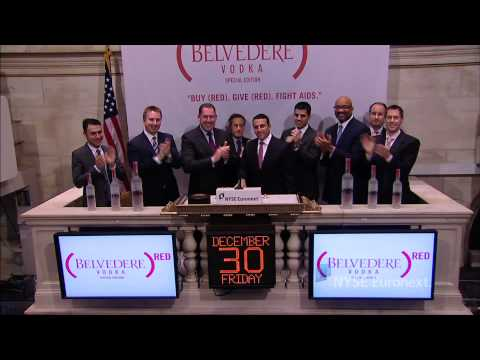 Belvedere Vodka and (Red) Support Global Fund rings the NYSE Closing Bell