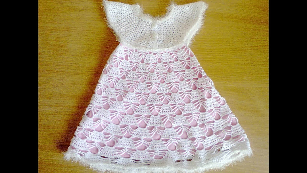 Страна мам вязание крючком для девочек платье7