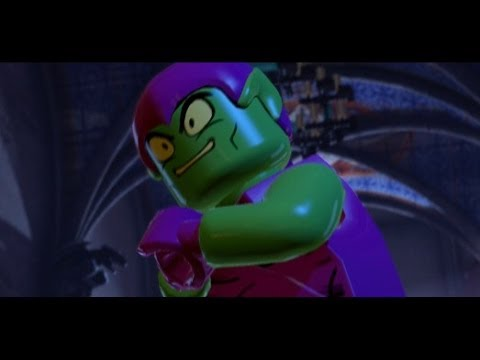 LEGO Marvel Super Heroes 100 Walkthrough Part 9 Doctor in the House Green Goblin Boss Fight