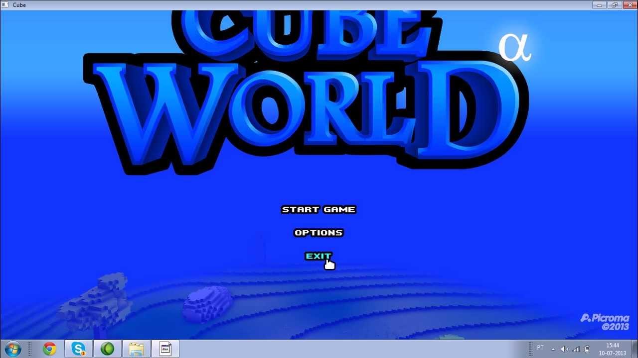 how to make a cube world server hamachi