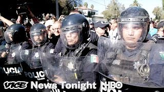 Mexico First!: The Migrant Caravan Arrives In Tijuana To Angry Protestors (HBO)