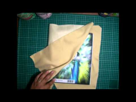 Como forrar un cuaderno con tela youtube - Telas para forrar cabecero cama ...