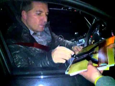 Brendan Rodgers Liverpool Manager Talking Too Fans At Liverpool HQ Melwood December 2012
