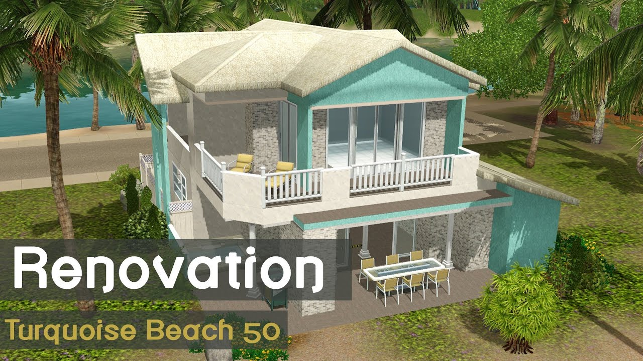 The Sims 3 Speed Build House Renovation Turquoise