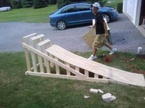 build bike jump wood