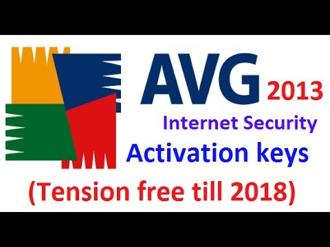 avg 2013 activation keys ( tension free till 2018 )