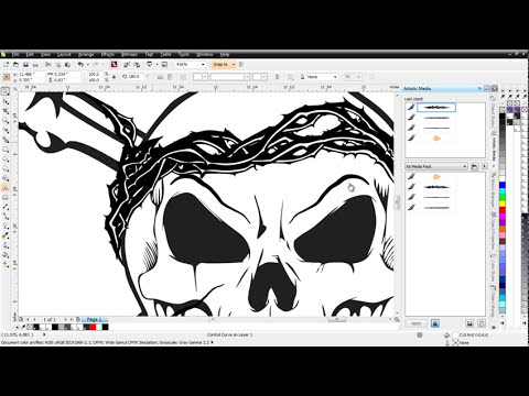 CorelDRAW X6 smear tool and skull design tutorial