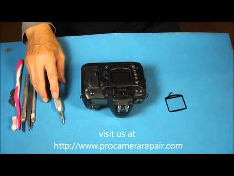 How to Replace the Rear LCD Window on a DSLR. Nikon D70