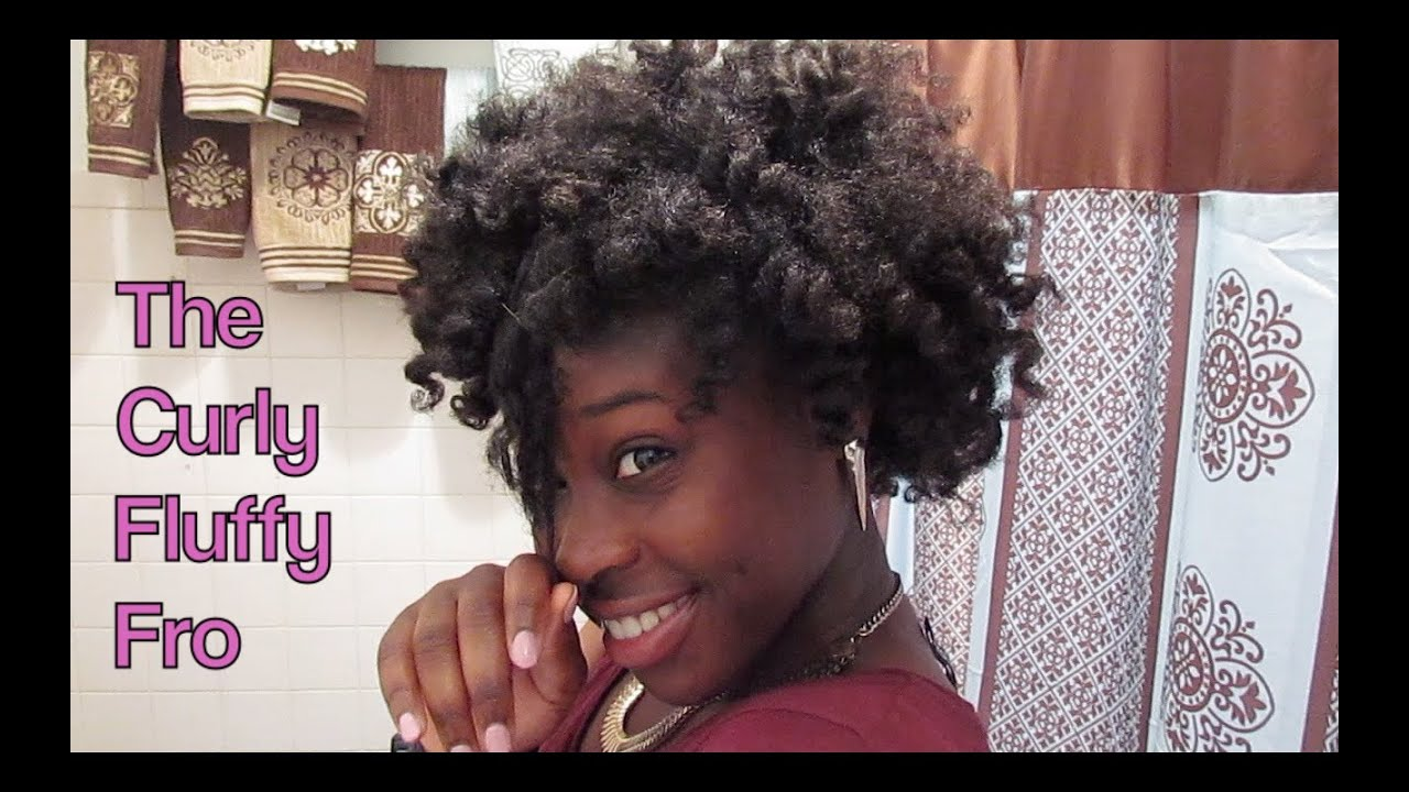 How To Do A Curly Fluffy Fro On Natural 4c Hair Youtube
