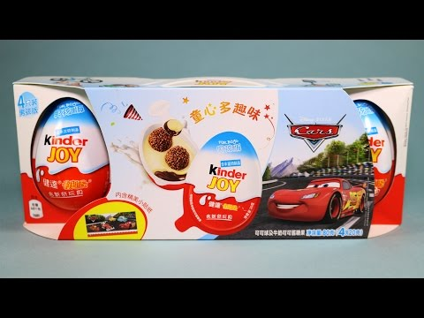 Kinder Joy 4 Eggs Pack Disney Cars Surprise Toys