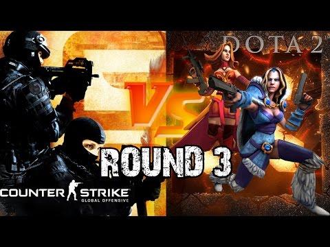 DOTA 2 vs CS:GO - Round 3 [SFM] @60 fps