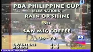 PTV Sports - Rain or Shine, nagwagi kontra San Mig Coffee Mixers kagabi