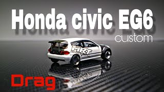 Honda Civic EG6 estilo Drag Custom Tarmacwork