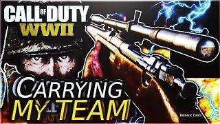 Call of Duty ww2: Carrying my team with a sniper for the win!!!