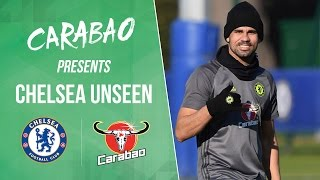 CHELSEA UNSEEN: Costa goals, Courtois talks penguins and another David Luiz prank