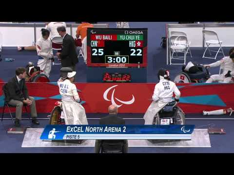 Wheelchair Fencing - HKG vs CHN - Women's Team Cat. Open Semifinal 1 - London 2012 Paralympic Games