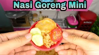 Miniature Cooking Fried Rice  Nasi Goreng  The Tiny Foods  Kartika and Satya