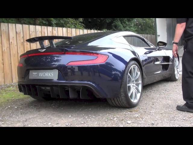 Aston Martin One-77 ENGINE SOUND! - YouTube