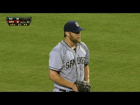 Cashner uses arm, bat to beat D-backs