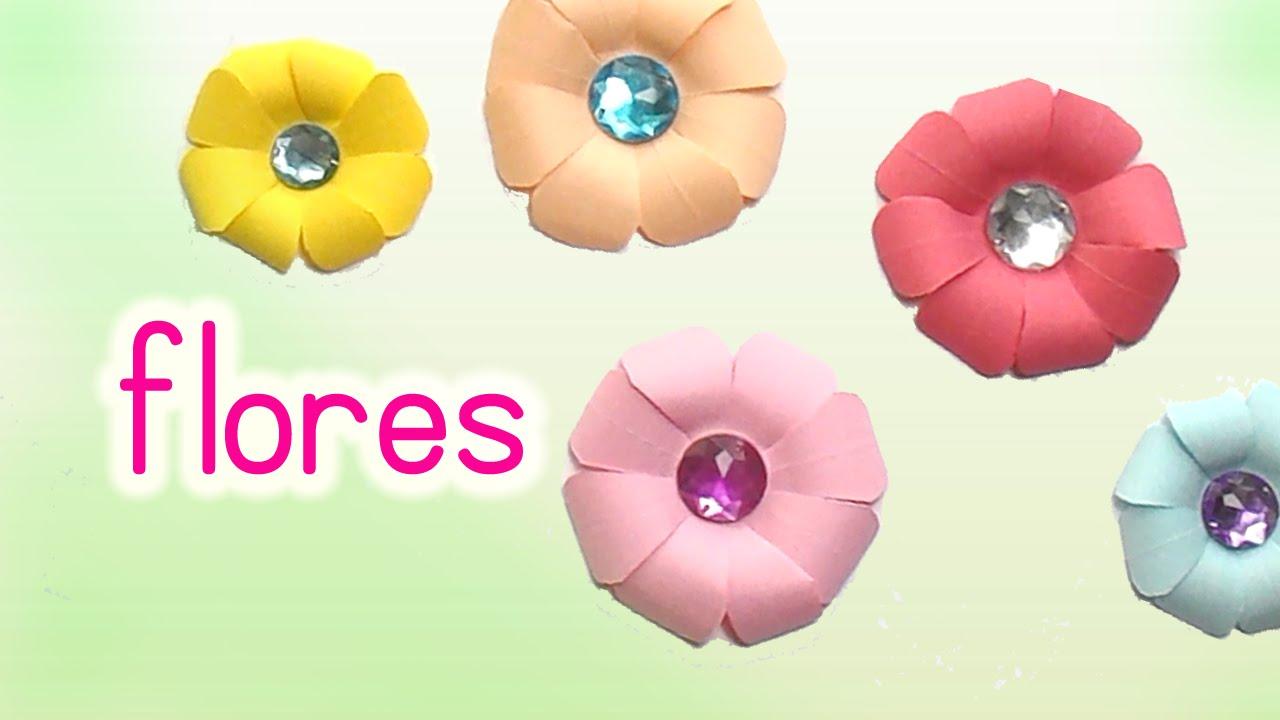 Manualidades flores de papel super f ciles diy innova - Mas manualidades faciles ...