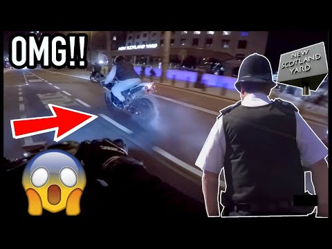 *INSANE* BURNOUT IN FRONT OF LONDON POLICE HQ