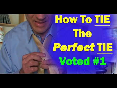 #1 BEST and Easiest Way to Tie a Tie