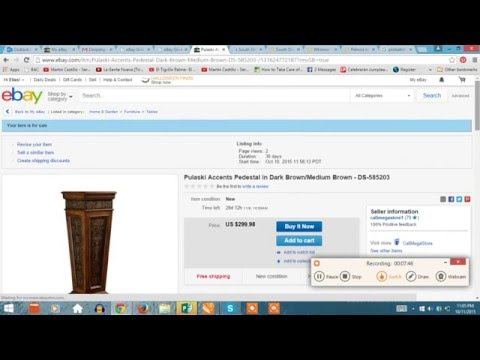 eBay Listings and writing Dropship task.