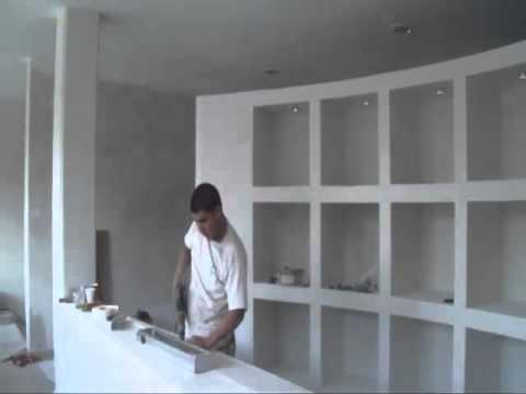 002 mueble de tablaroca 01 youtube - Como hacer un mueble para tv ...