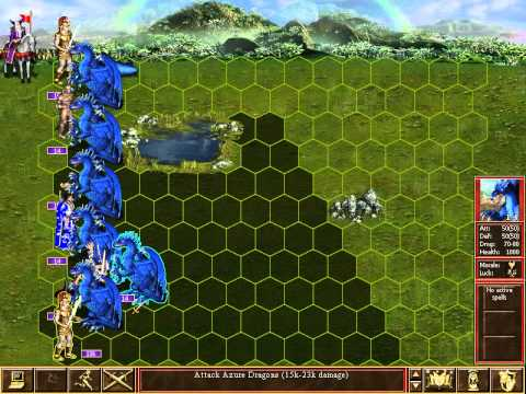 Heroes III: Armageddon's Blade - Dracon vs 100 Azure Dragons