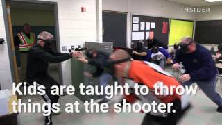 How children are taught to survive school shootings