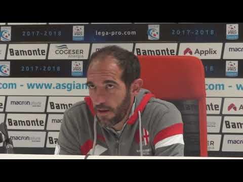 Cristian Stellini allenatore dell'Alessandria commenta il pareggio contro la Giana Erminio a Gorgonzola.