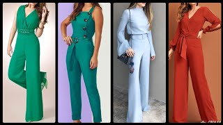Stylish & Attractive Office Wear Plain Jumpsuits Ideas For Working Women