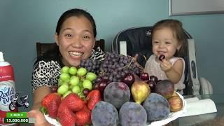 Vlog 712 🇺🇸ll 5 Loại Trái Cây Mỹ Chấm Kem Tươi Vừa Ăn Vừa Cười Ná Thở Với Jade