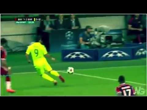 Le geste technique de Suarez contre le Bayern Munich