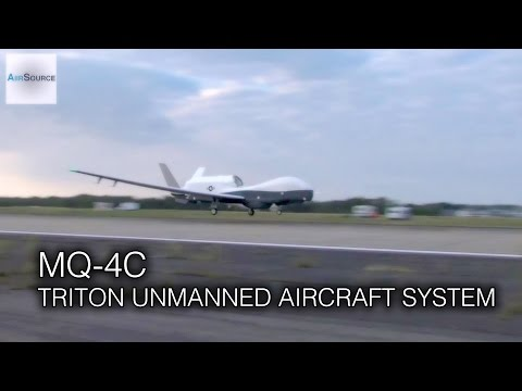 Navy's HUGE MQ-4C Triton Drone - Historic Landing After Flew Across The U.S.